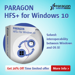 Paragon HFS+ for Windows®