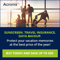 Save up to $50 on Acronis True Image Backup Software