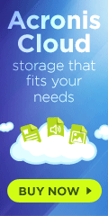 Use the Acronis Cloud for storage that fits your needs
