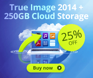 <strong>Acronis True Image 2014 with 250GB Cloud Storage</strong> for $74.99 only!