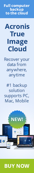 Acronis True Image Cloud is the number one backup solution for PC, Mac and Mobile