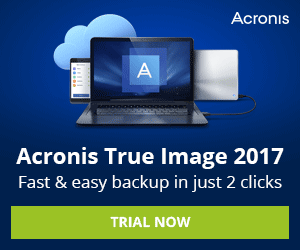 Acronis True Image 2017 is fast and easy backup with just 2 clicks